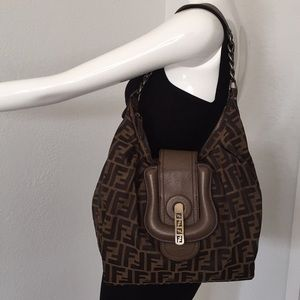 Fendi  signature logo shoulder bag